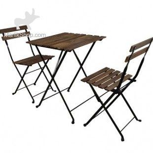 میز و صندلی تاشو ۲ نفره تارنو طرح ایکیا