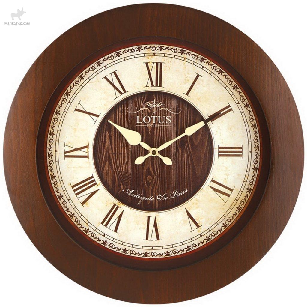لوتوس ساعت دیواری چوبی مدل نورویچ ۹۸۲۳