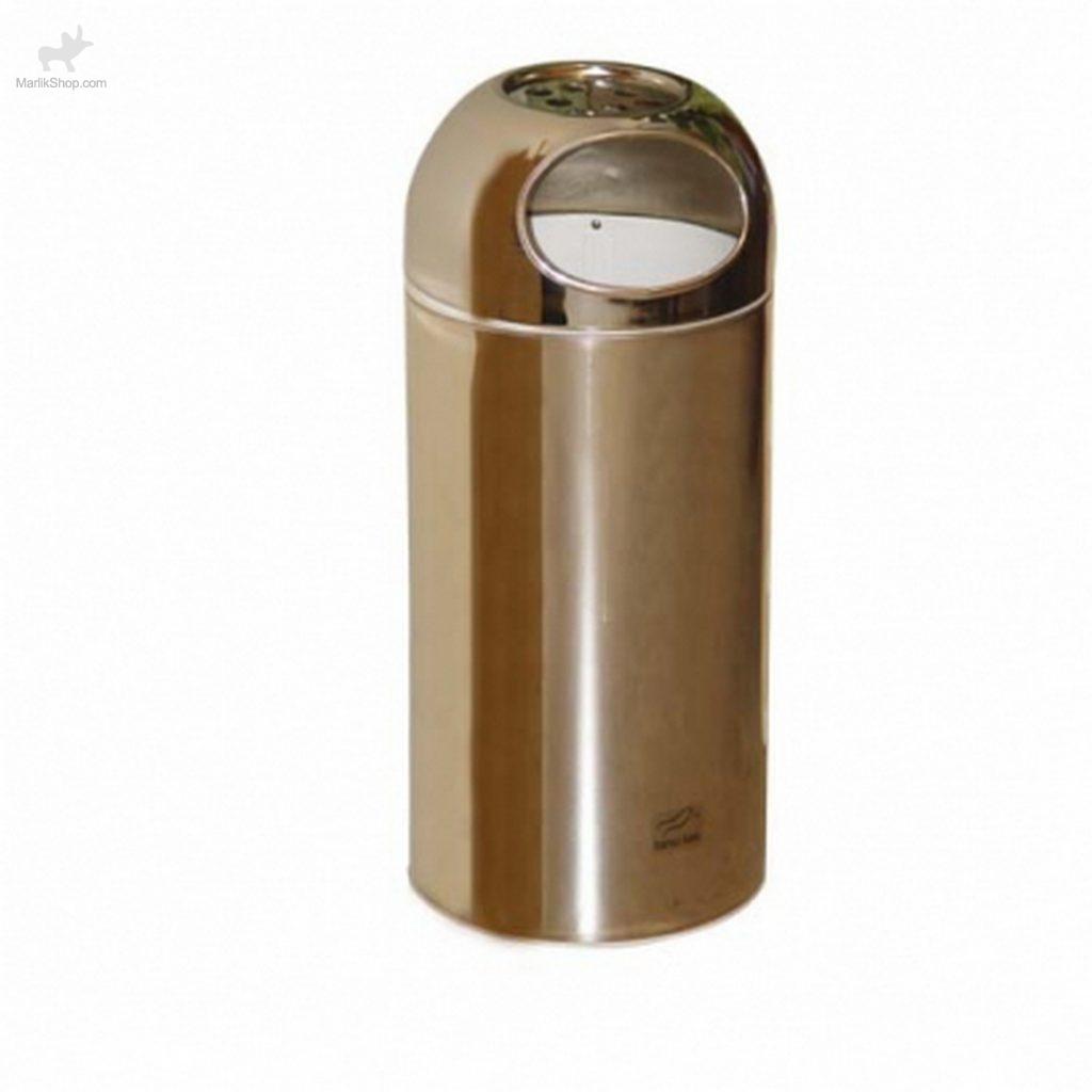 سطل زباله اداری استیل مشکی