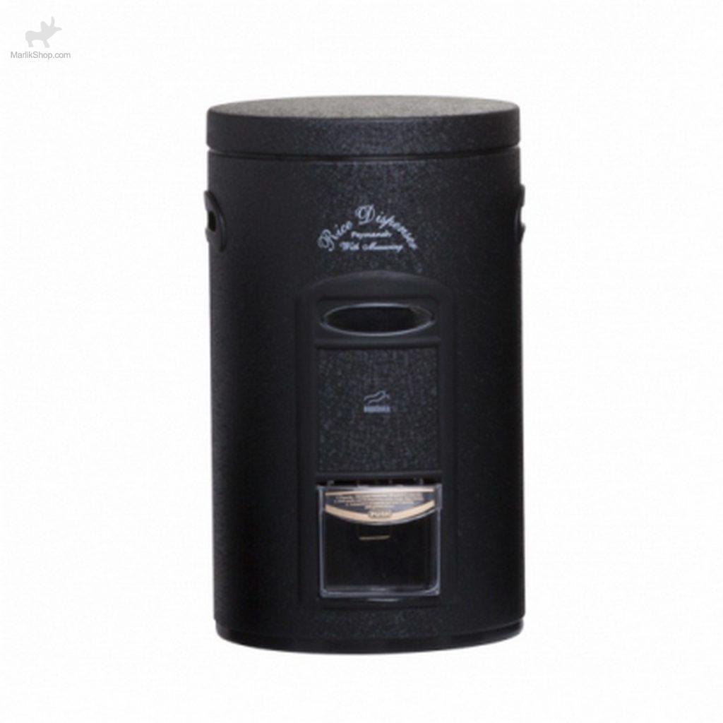 سطل برنج پیمانه دار مشکی چروک در سفید -در سیاه