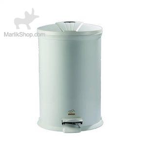 سطل زباله پدالدار ۲۰ لیتری سفید براق در پلیمری