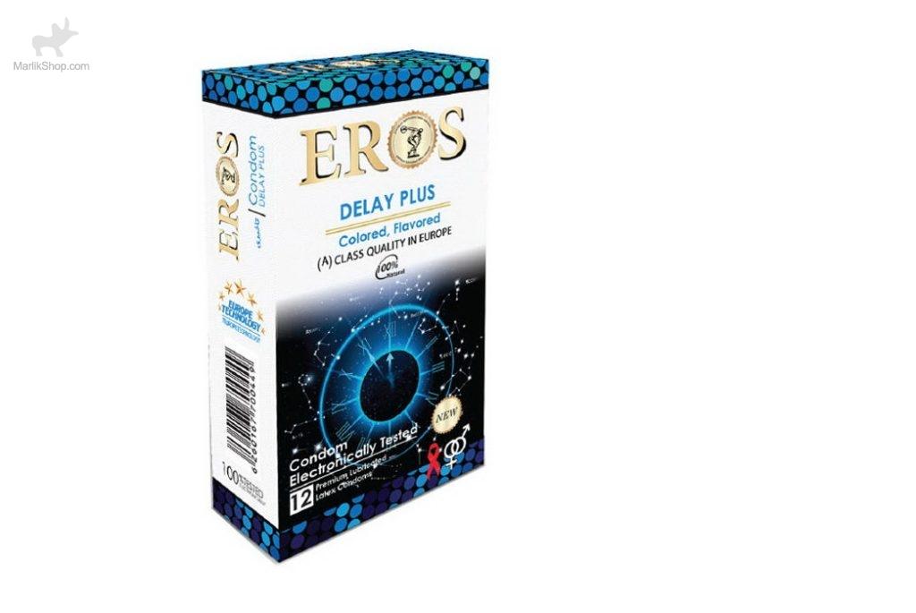 کاندوم اروس مدل Delay Plus بسته ۱۲ عددی