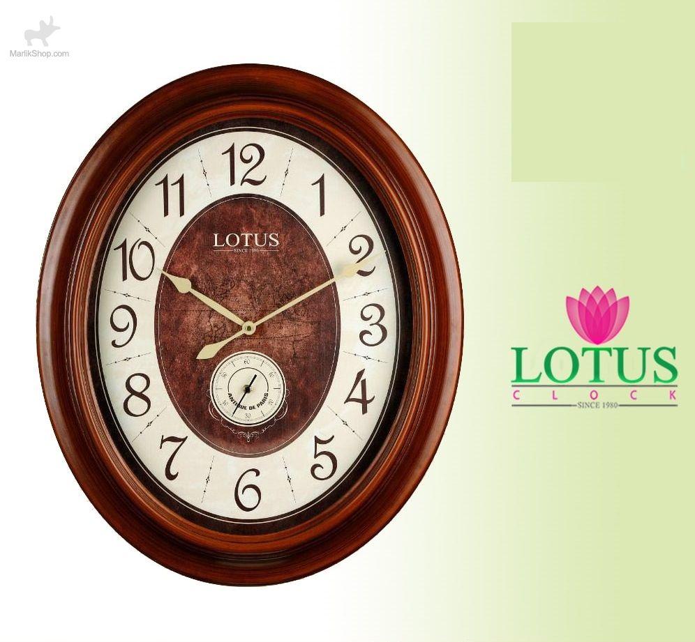ساعت دیواری لوتوس چوبی ۵۸۴