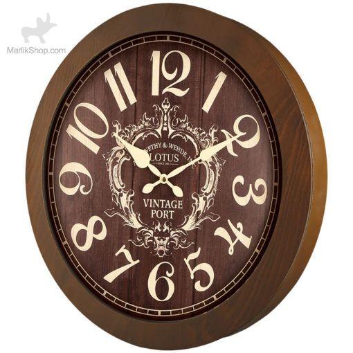 ساعت دیواری لوتوس چوبی ۹۸۲۲
