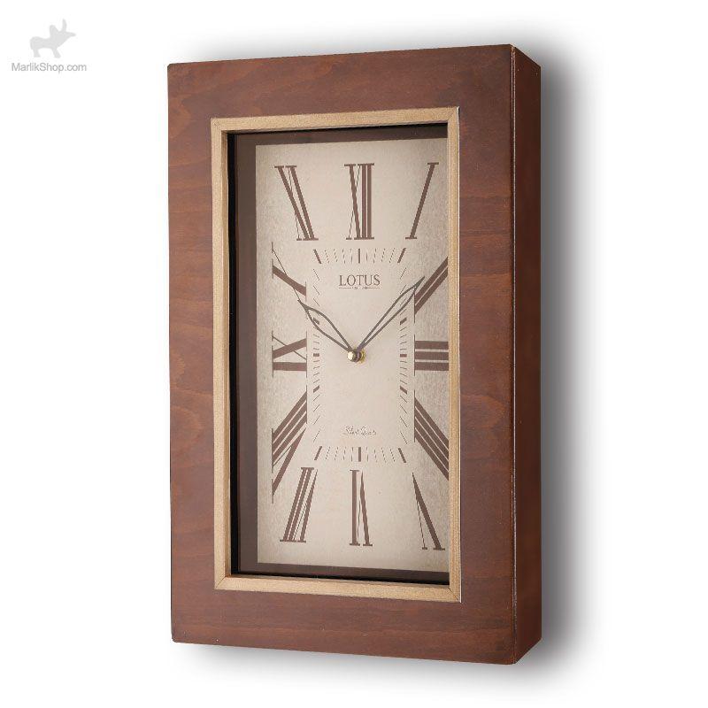 ساعت دیواری لوتوس چوبی ۹۹۱۲