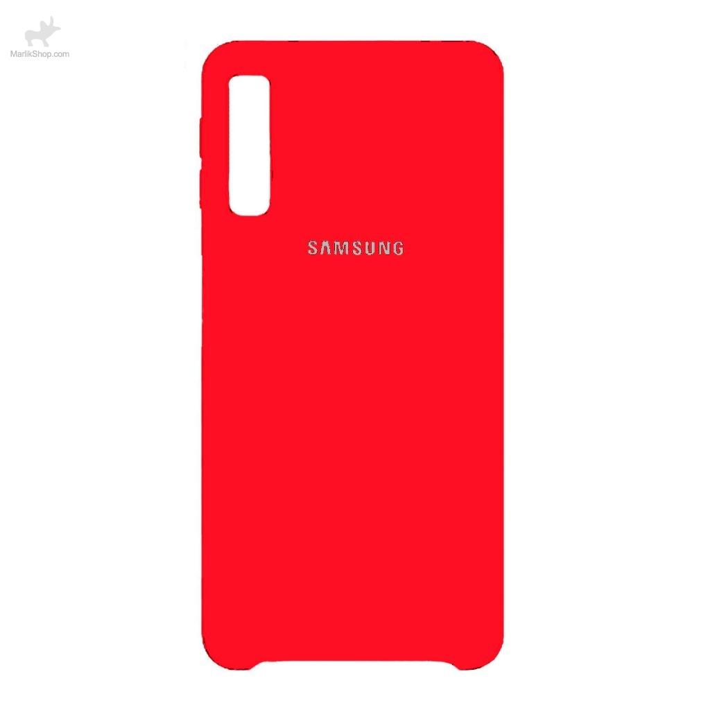 قاب سیلیکونی کد رنگ ۲ قرمز-Samsung A70