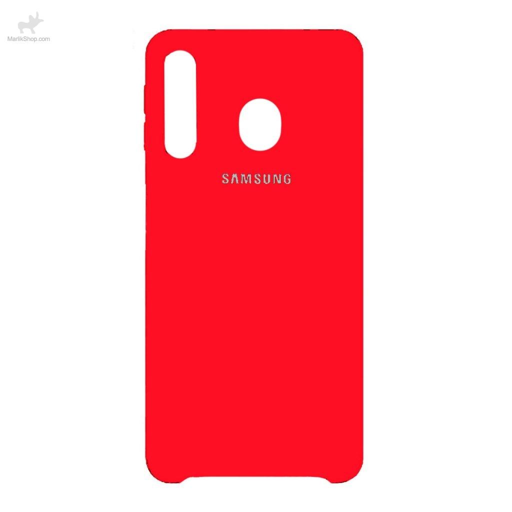 قاب سیلیکونی کد رنگ ۲ قرمز-Samsung M30