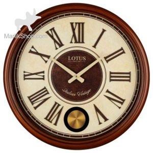 لوتوس ساعت دیواری چوبی کد W-256