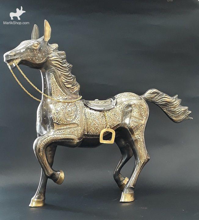 هندی مجسمه اسب برنجی ۱۲۲۳