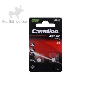 باتری سکه ای Camelion alkaline مدل AG4 بسته ۲ عددی
