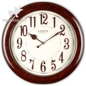 ساعت دیواری چوبی لوتوس مدل PAUL کد W-6031