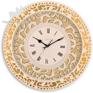 ساعت دیواری چوبی لوتوس مدل WM کد WH-8800