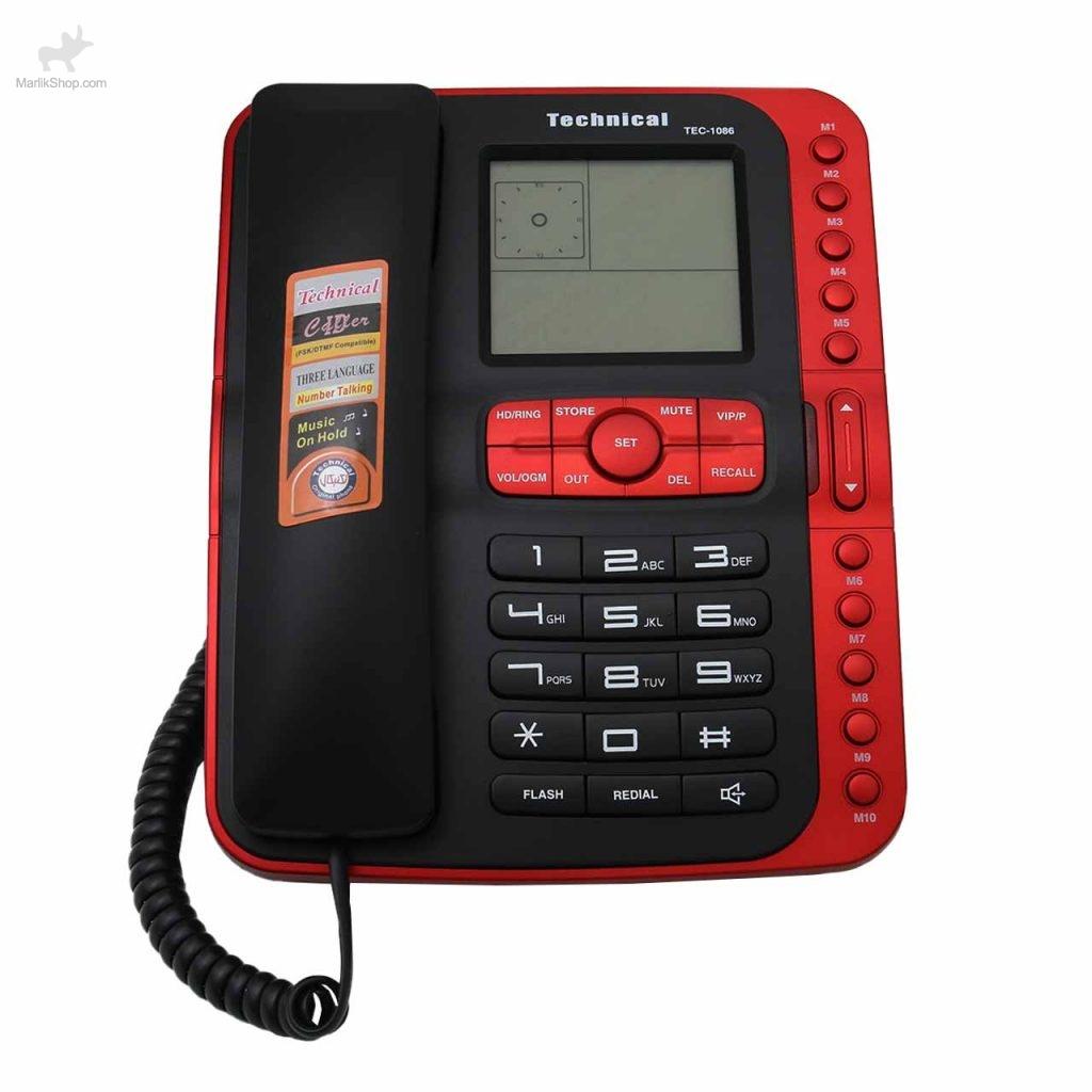 تلفن رومیزی تکنیکال TEC-1086