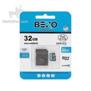 BEXO microSDHC & adapter UHS-I U1 Class 10-80MB/s-32GB