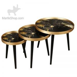 میز عسلی سه تیکه مدل ALMA کد BLG-731