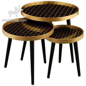 میز عسلی لوتوس سه تکه مدل ALMA کد ۷۳۱-MONZA