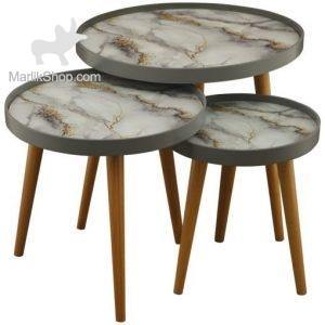 میز عسلی لوتوس سه تکه ALMA مدل FOGGIA-731