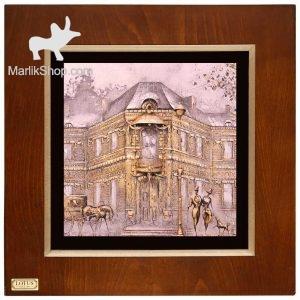 تابلو نقاشی ورق طلا لوتوس کد FWSGB-43×۴۳-F
