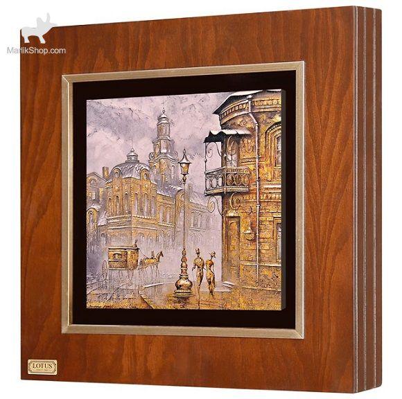 تابلو نقاشی ورق طلا لوتوس کد FWSGB-43×۴۳-A