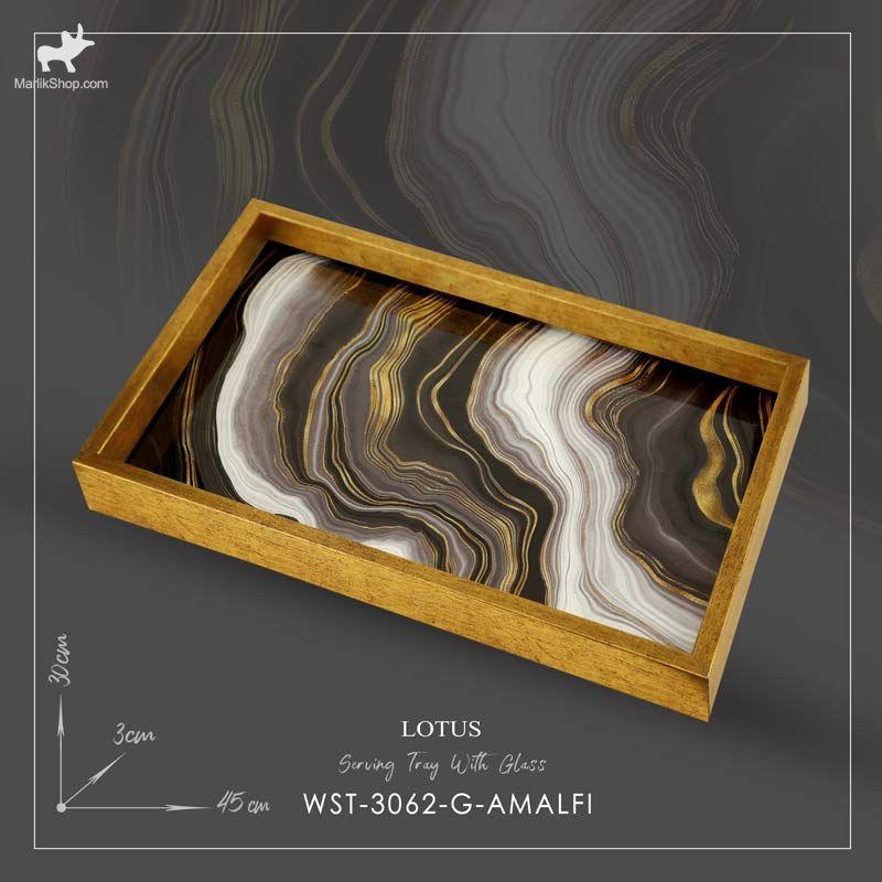 سینی سرو لوتوس مدل AMALFI کد WST-3062 رنگ GOLD