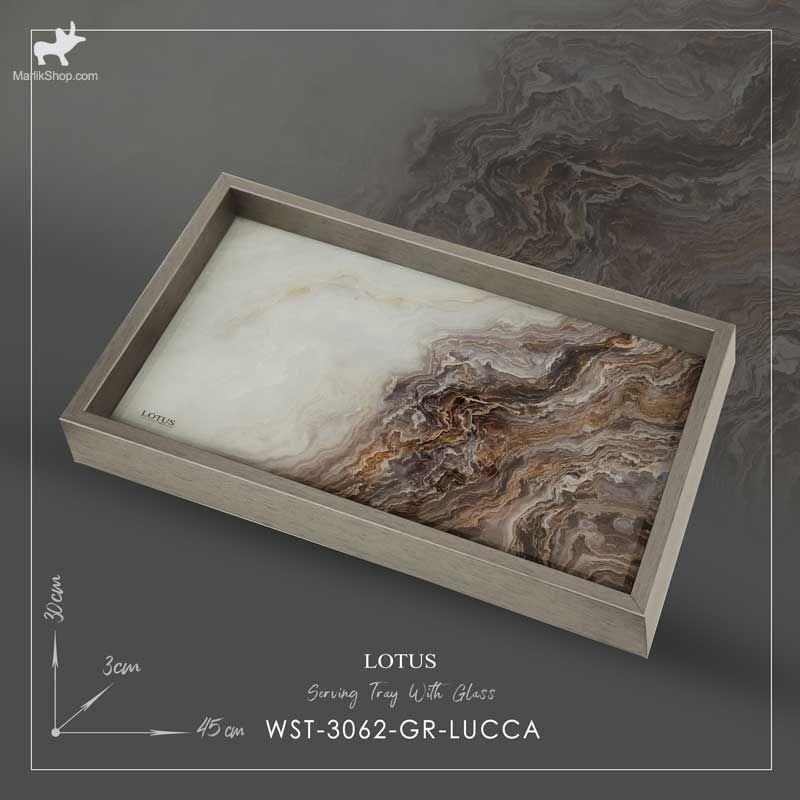 سینی سرو لوتوس مدل LUCCA کد WST-3062 رنگ GRAY